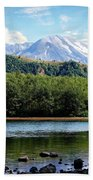 Lake And Volcano Beach Towel