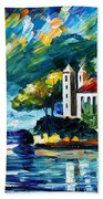 Lake Como Italy Beach Towel