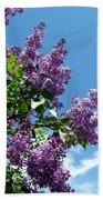 Lake Country Lilacs Beach Towel
