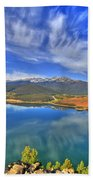 Lake Dillon Blue Beach Towel