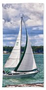 Lake Erie Sailing 8092h Beach Towel