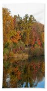 Lake Helene And Fall Foliage Beach Towel