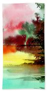 Lake In Colours Beach Towel
