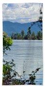 Lake Islet Beach Towel