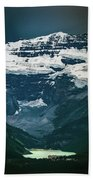 Lake Louise At Distance Beach Towel
