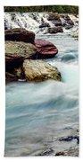 Lake Mcdonald Falls, Glacier National Park, Montana Beach Towel