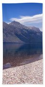 Lake Mcdonald Reflection Glacier National Park 4 Beach Towel