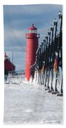 Lake Michigan Ice Beach Towel