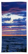 Lake Michigan Windy Sunrise Beach Towel