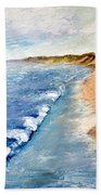 Lake Michigan With Whitecaps Ll Beach Towel by Michelle Calkins