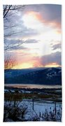 Lake Okanagan Sunset At Vernon Beach Towel