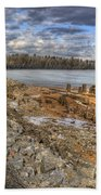 Lake Pend D'oreille At Humbird Ruins 2 Beach Towel