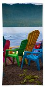 Lake Quinault Chairs Beach Towel