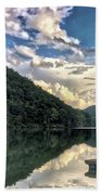 Lake Reflections Beach Towel