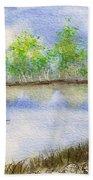 Lake Scene Beach Towel