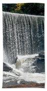 Lake Sequoyah Dam Falls - Highlands, North Carolina Beach Towel