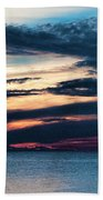 Lake Superior Sunset Beach Towel