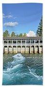 Lake Tahoe Dam Beach Towel
