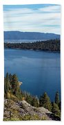 Lake Tahoe Emerald Bay Panorama Beach Towel