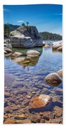 Lake Tahoe Rocks Beach Towel