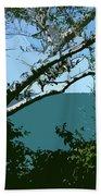 Lake Through The Trees Beach Towel