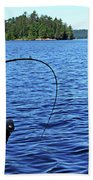 Lake Trout Fishing Beach Towel