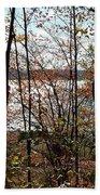 Lake Wallenpaupack Through The Trees Beach Towel