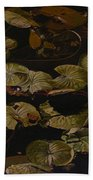 Lake Washington Lily Pad 9 Beach Towel