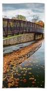 Lake Waterford Fall Waterscape Beach Towel