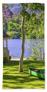 Lakeside Relaxation Beach Towel