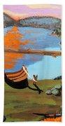 Lakeside Retreat Beach Towel
