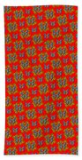 Lalabutterfly Red Reduced Scale Beach Towel