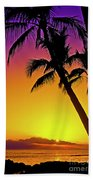 Lanai Sunset II Maui Hawaii Beach Towel