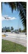 Landing In San Diego Beach Towel