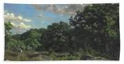 Landscape At Chailly Beach Towel