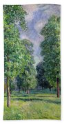 Landscape At Sevres Beach Towel by Alfred Sisley