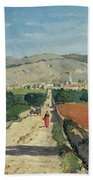 Landscape In Provence Beach Towel by Paul Camille Guigou