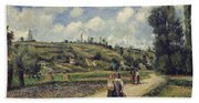 Landscape Near Pontoise Beach Towel