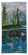 Landscape Of Tranquility And Storms  Beach Towel