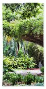 Landscape Rip Van Winkle Gardens Louisiana  Beach Towel