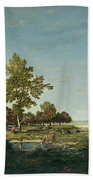 Landscape With A Clump Of Trees Beach Towel