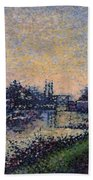 Landscape With A Lock 1885 Beach Towel