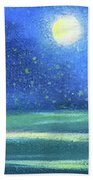 Landscape With A Moon Beach Towel