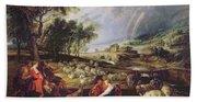 Landscape With A Rainbow Beach Towel