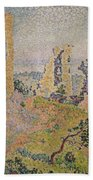 Landscape With A Ruined Castle  Beach Towel