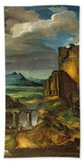 Landscape With A Tomb  Beach Towel by Theodore Gericault