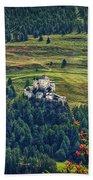 Landscape With Castle Beach Towel