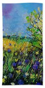 Landscape With Cornflowers 459060 Beach Towel