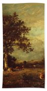 Landscape With Cows 1870 Beach Towel
