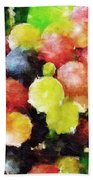 Landscape With Giant Grapes Beach Towel
